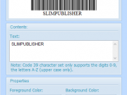 SlimPublisher 5 Barcode