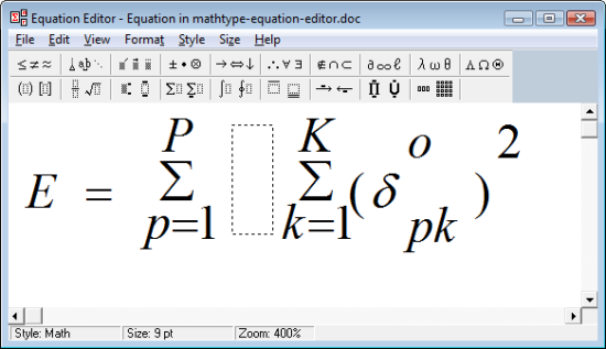 Kingsoft Office Equation Editor