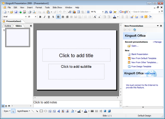 powerpoint 2010 edit template - kingsoft presentation is an alternative to microsoft