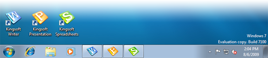 Kingsoft Office 2009 on Windows 7 x64