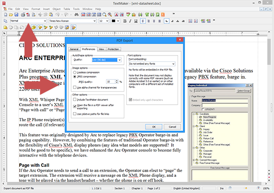 TextMaker_export_to_PDF