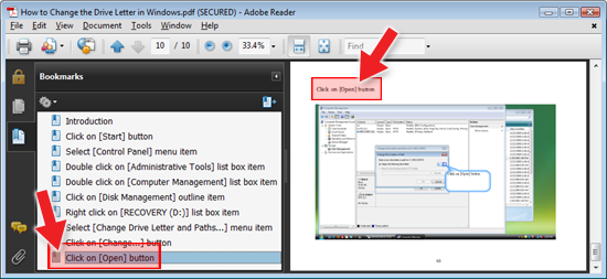 ActivePresenter Adobe PDF Export with Bookmarks
