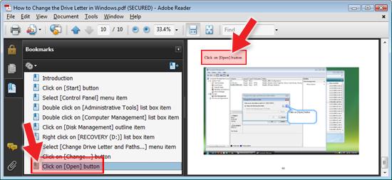 ActivePresenter Adobe PDF Export with Bookmarks