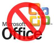 Microsoft Office banned