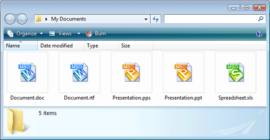 Kingsoft Office File type icons in Windows Explorer