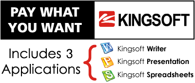 Pay What You Want for Kingsoft Office: Includes 3 applications