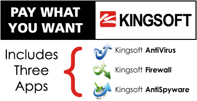 Pay What You Want for Kingsoft Internet Security: Includes Three Apps