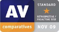 AV-Comparatives Standard Award November 2009