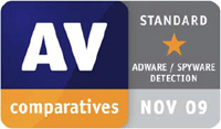 AV-Comparatives PUA November 2009 Award