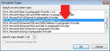 Kingsoft Presentation Encryption Types