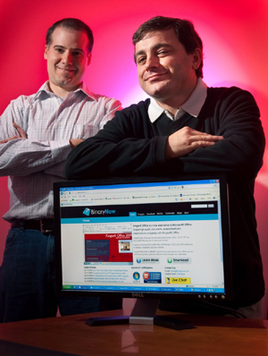 Premysl Pech and Brandon Sturgeon, co-owners of BinaryNow