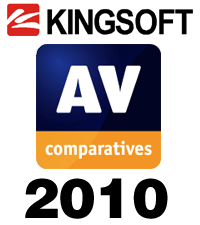 AV-Comparatives logo and Kingsoft logo