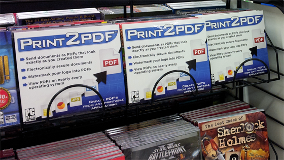 Print2PDF Is Available In Retail Stores Including Office Depot, Fryu0027s  Electronics And Many More