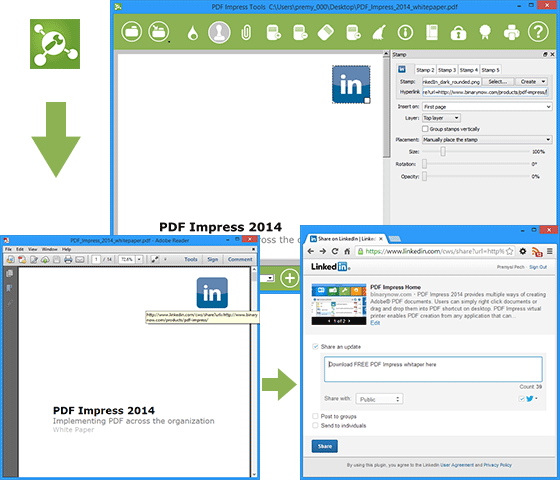 Linkedin pdf from