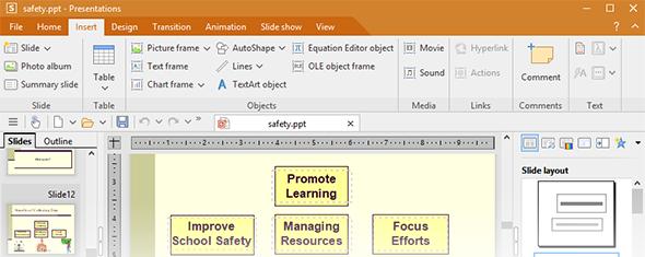 softmaker presentations alternative to microsoft ms powerpoint
